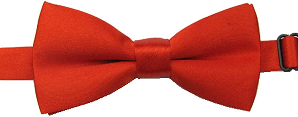 Adjustable Boys Bow Tie Solid Pre Tied for Wedding Party Dress up