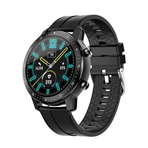 XXY Smart Watch HD Pantalla Táctil Completa Moda Multifuncional Reloj Deportivo Impermeable para Android iOS (Color : Black)