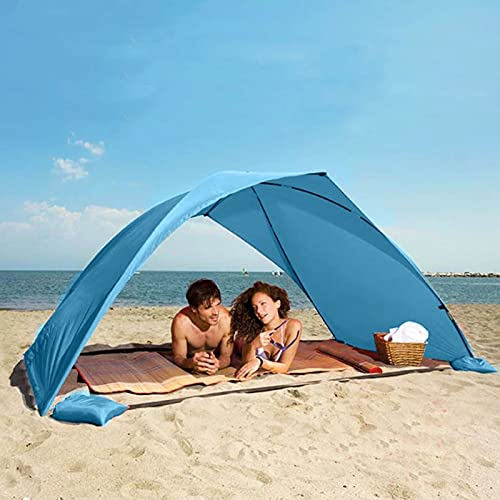 SUYUDD Carpa portátil con Sistema Plegable y Clavos para Piso, Carpa de Playa para Exteriores, para Viajes/Camping/Senderismo/Pesca/Jardín