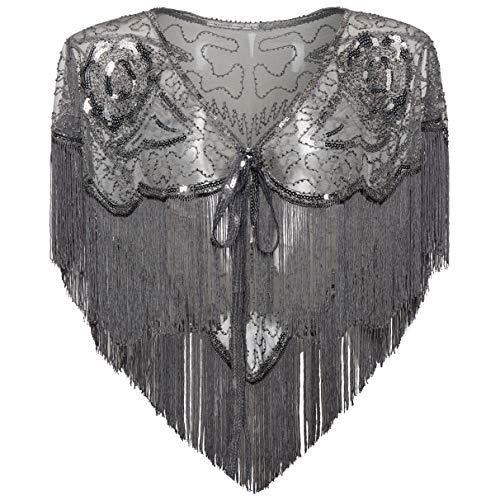 Coucoland 1920s Stola dames retro sjaal omslagdoeken bruiloft bruid sjaal schouder bedekken voor avondjurk jaren 20 stijl gatsby kostuum accessoires