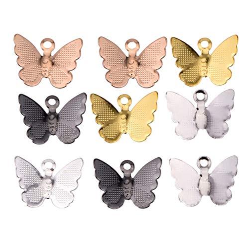HEALLILY 30 Piezas de Colgantes en Forma de Mariposa para Collar de Acrílico Colgante de Mariposa Pulsera de Estilo Retro Colgantes de Dijes DIY Accesorios para Hacer Joyas