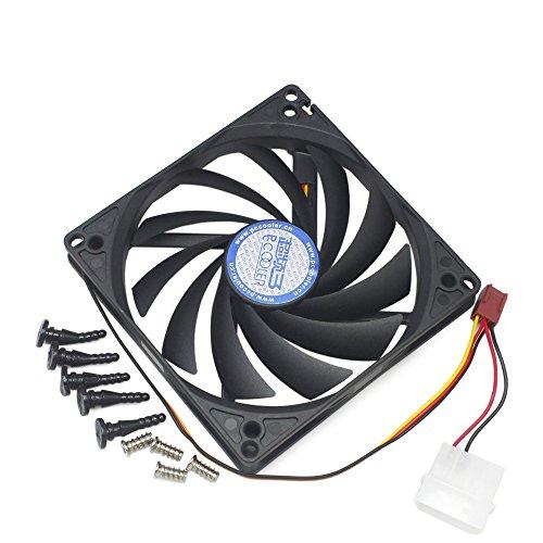 100mm y 90mm x15mm Doble Agujeros Diseño Cooler ventilador de refrigeración para HTPC caso CPU VGA