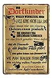 Blechschild Wir Dorfkinder - Retro Deko Metallschild -
