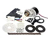 L-faster 250W Electric Conversion Kit for Common Bike Left Chain Drive Customized for Electric Geared Bicycle Derailleur(¨Thumb Kit)