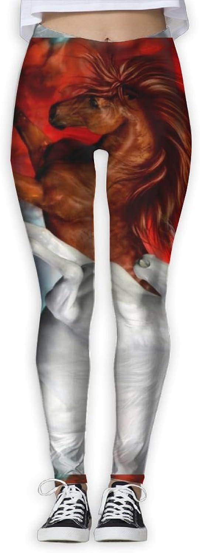 EWDVqqq Women Yoga Pant Animal Horse High Waist Fitness Workout Leggings Pants