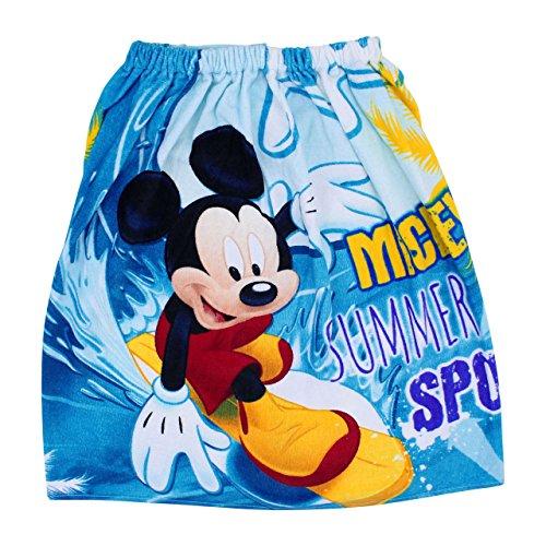 丸眞 ディズニー ミッキーマウス 60cm丈 巻きタオル ラップタオル ウェーブミッキー 綿100% 60×120cm 女の子 男の子 2095001800