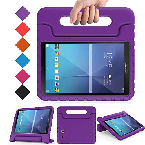 BMOUO Kids Case for Samsung Galaxy Tab E 9.6 - Shockproof Light Weight Protection Handle Stand Kids Case for Samsung Galaxy Tab E/Tab E Nook 9.6 Inch SM-T560, Purple