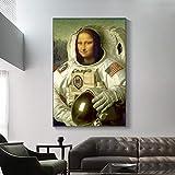 GUDOJK Wandgemälde Dekoratives Plakat Lustige Kunst Mona