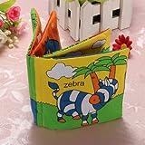 Livre tissu bébé enfant intelligence cognitive éducation mot anglais peinture jouet Animaux forêt