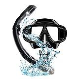 Masque de plongée anti-buée avec tuba et tuba améliorés avec tuba de respiration gratuit, anti-fuite, pour adultes et jeunes