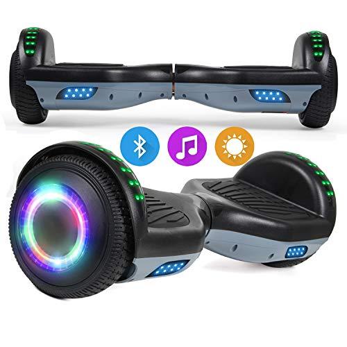 Hoverboard, Self Balancing Scooters 6,5 Pulgadas Segway Hover Scooter Board con música Bluetooth, Luces LED y Potente Motor para niños y Adolescentes