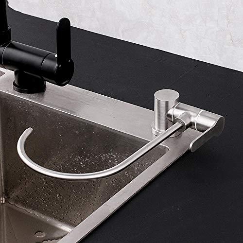 grifo cocina osmosis abatible, acero inoxidable 304, grifo abatible fregadero, grifo de grifo cocina y osmosis, cuello de cisne, 1/2