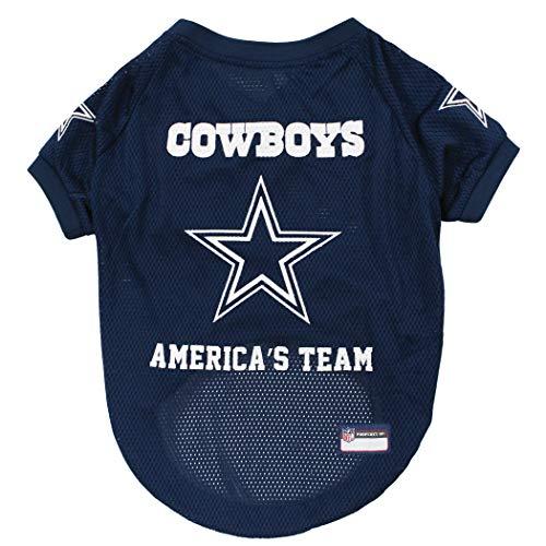 Pets First NFL Dallas Cowboys Raglan Jersey America's Team - Medium. Cutest Football Jersey for Dogs & Cats