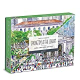 """Michael Storrings Springtime at The Library Double-Sided Puzzle, 500 Pieces, 20"""" x 20"""" – Two-Sided Jigsaw Puzzle with Stunning Artwork – Thick, Sturdy Pieces, Challenging Family Activity"""