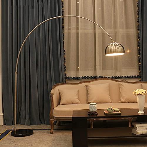 Lámpara de pie,lámpara de pie de Arco Moderna para Sala de Estar,luz de Lectura de pie Ajustable con Base de mármol,para sofá de Sala de Estar(Bombilla LED de 9 W)