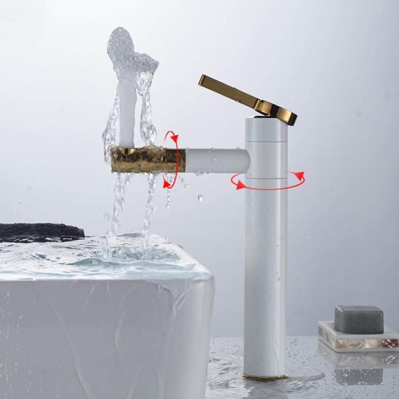 Wasserhahn Chrom schwarz Becken Wasserhahn Deck montiert Schwenkauslauf Waschbecken Mischer Einhebel hei kalt Wasserhahn ein Loch Wasserhahn
