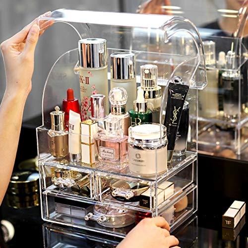 Transparente Acrílico Maquillaje Organizador Caja de Almacenamiento Lipstick Holder Holder Holder Cajas Soporte de exhibición de joyería (Color : Clear)