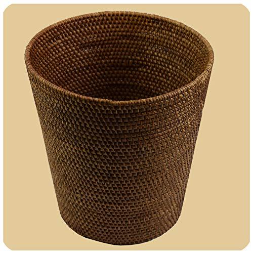 Simandra Rattan Papierkorb Burma, Flechtkorb Basket Korb Deko Unikat Handarbeit Natur rund