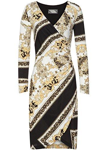 Nicowa Damen Edles Kleid Maya mit stilvollem Allover-Muster