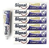 Signal Integral 8 Dentifrice Protection Complète Longue Durée, Action Anti-Plaque (Lot de 6x75ml)
