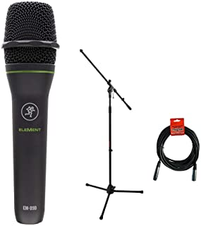 Mackie EM-89D EleMent Series Dynamic Vocal Microphone with Tripod Microphone Stand & XLR Cable Bundle