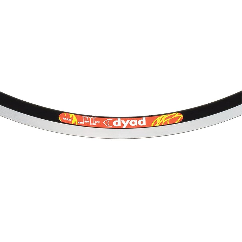 Velocity Dyad Clincher Machined Sidewall Bicycle Rim - Black 700C x 36H - 3600m-62236