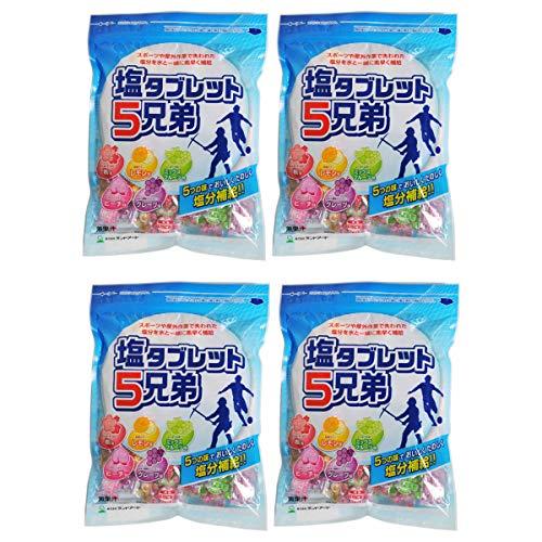 4袋まとめ買い ランドアート 塩タブレット5兄弟 (530g x 4袋セット) 塩飴 塩あめ 塩タブレット5兄弟