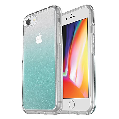 OtterBox SYMMETRY CLEAR SERIES Case for iPhone 8 & iPhone 7 (NOT Plus) - Retail Packaging - ALOHA OMBRE (SILVER FLAKE/CLEAR/ALOHA OMBRE)