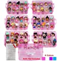 HOME4 BPA Free Pink Glitter 60 Adjustable Compartments 6…