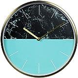 Reloj cocina pared Pared de la cocina del reloj reloj de pared de mármol cielo mar de color reloj de pared simple moderna decorativa reloj mudo del reloj del metal de 12 pulgadas estilo de moda SLZFLS