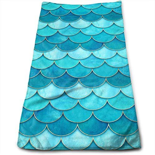 chenguang4422 - Toallas de mano para baño, natación, yoga, gimnasio, microfibra absorbente suave, unisex, 27,56 x 30 cm, color azul