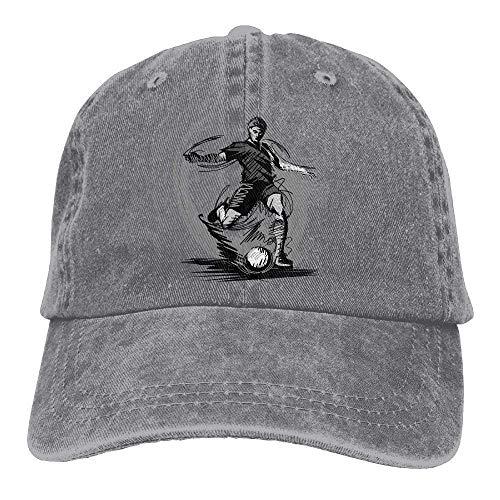 yting fútbol Americano Denim Gorras de béisbol Ajustable del Sombrero del Deporte del algodón...