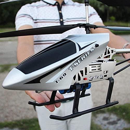 Lotees 85CM RC Elicottero Gigante Grande Aereo Da Esterno Con Giroscopio LED Luce Radiocomando 3.5 Canali Elicottero Ragazzo Giocattolo Aereo Bambini Drone Principiante Facile Da Usare Per Bambini Età