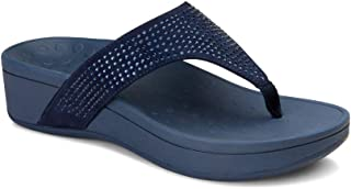 Women's Naples Platform Sandal - Toe Post Sandals with Concealed Arch Support