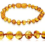 Bracelet Ambre 14 cm, 16 cm. - 100% Plus Haute Qualite Certifie l'Ambre la Baltique Authentique. Amberta® (16 cm)