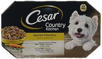 Cesar Country, Cuisine chien plateaux sélection spéciale, 4 x 150 g, Pack de 4