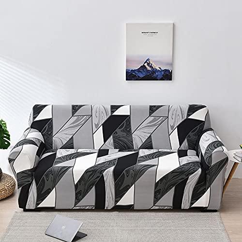 WXQY Blumensofabezug für Wohnzimmer, Flexible Sofabezug, staubdichte All-Inclusive-Ecksofa Handtuch Sofabezug A21 3-Sitzer