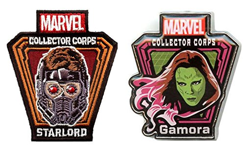 Funko Marvel Collector Corps Starlord Patch y Gamora Pin