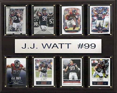NFL Houston Texans J.J. Watt 8-Card Plaque, 12 x 15-Inch