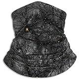 BGDFN Schwarzes Netz und kleines Sternenlicht Stirnband Gesichtse Bandana Kopfwickel Schal Halswärmer Kopfbedeckung Sturmhaube