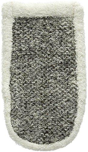 Magit–Guante de crin de caballo con algodón Esponja, color gris
