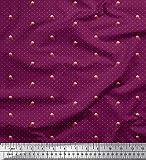 Soimoi Dot Tessuto Chiffon Di Viscosa E Tessuto Insectprint Al Metro 42 Pollici Di Larghezza