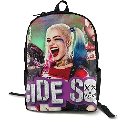 Suicide Squad Harley Quinn (12) Mochila de viaje Senderismo Mochilas Impermeable Multifuncional Trekking Mochila