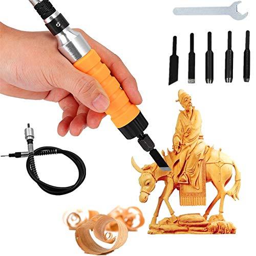 Scalpello per intaglio elettrico, Shell è un solido principalmente utilizzato per legno, intaglio di mobili, sculture di pavimenti antichi, giocattoli, figure, animali e altre opere di scultura