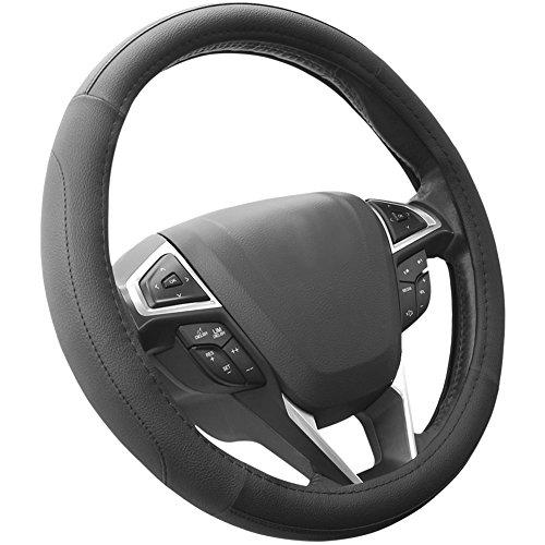 SEG Direct Black Microfiber Leather Auto Car Steering Wheel...