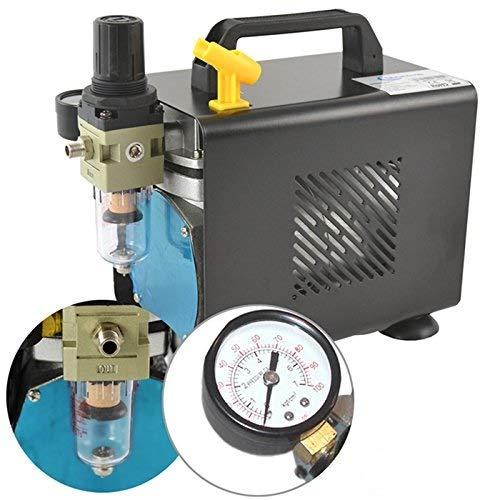 AMUR Airbrush Kompressor zum Schnäppchenpreis, das Gerät f. Anfänger/Fortgeschrittene f. individ. Airbrush-Set mit Manometer, Vorfilter-Wasserabscheider für Airbrush Farbe
