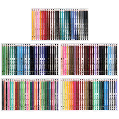 Lápices de dibujo profesionales sin decoloración Lápices de colores de 150 piezas, para pintar, dibujar, pintar al carbón, pintar con acuarela lápices de colores artísticos