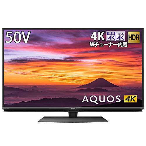 シャープ 4K チューナー内蔵 液晶 テレビ Android TV HDR対応 AQUOS N-Blackパネル 50V型 4T-C50BN1