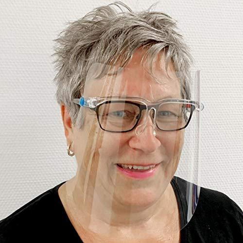Gesichtsvisier mit Komfort Brillengestell - sofort Lieferung