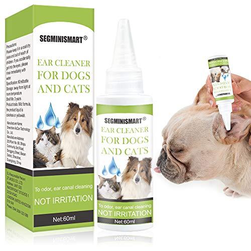 SEGMINISMART Ohrenreiniger für Hunde und Katzen, Lösung zur Ohrenpflege und -Reinigung von Hundeohren & Vorbeugung von Gehörgangsentzündungen